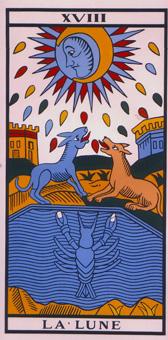 lune, tarot Conver, edition Flornoy 1999