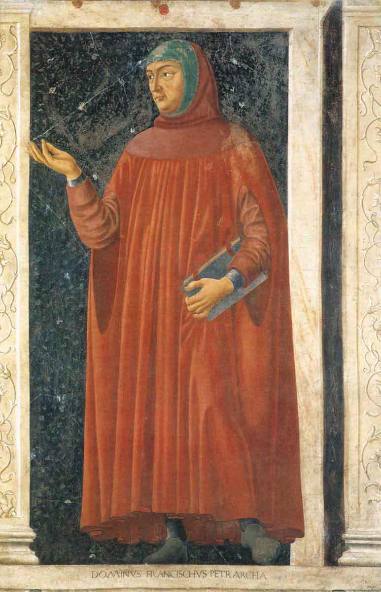 Pétrarque peint par Andrea di Bartolo di Bargilla