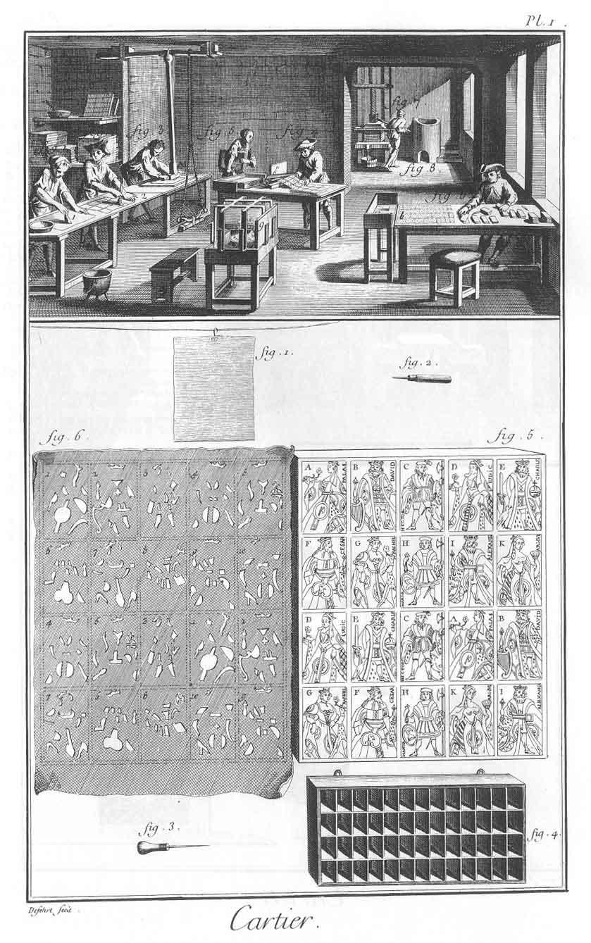 carterie XVIIIè siècle
