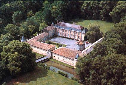le château de Braux Sainte Cohière, vue aérienne