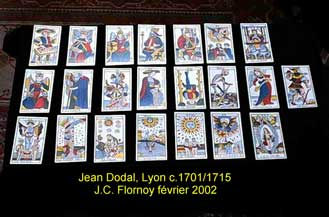 présentation du tarot de Jean Dodal