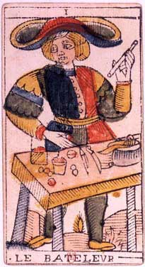 Tarot of Jean Dodal, I the mountebank