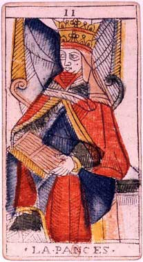 Tarot de Jean Dodal, II la Papesse