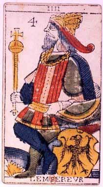 Tarot de Jean Dodal, IIII Lempereur