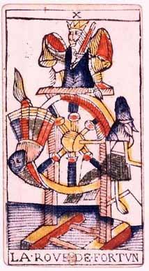 Tarot de Jean Dodal, X La roue de fortune