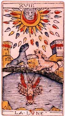 Tarot de Jean Dodal, La lune