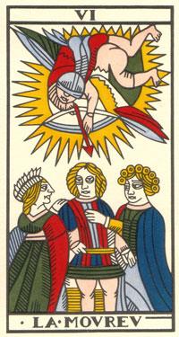 Tarot de Jean Dodal, VI Lamoureu, restauration par JC Flornoy