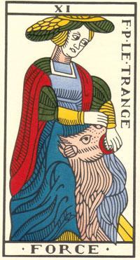 Tarot de Jean Dodal, XI Force, restauration par JC Flornoy
