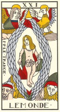 Tarot de Jean Dodal, Le Monde, restauration par JC Flornoy