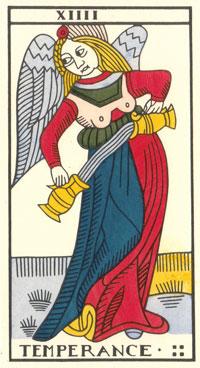 Tarot de Jean Dodal, Temperance, restauration par JC Flornoy