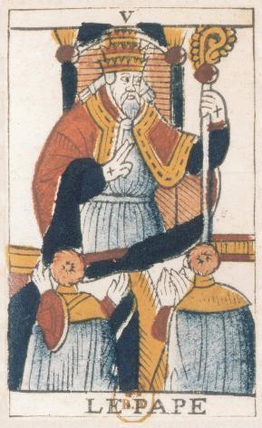Tarot de Jean Noblet, V Le Pape