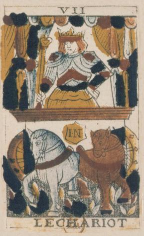Tarot de Jean Noblet, VII Le Chariot