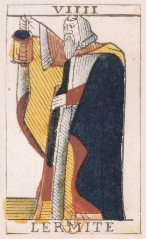 Tarot de Jean Noblet, VIIII L'Ermite