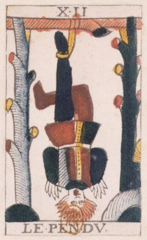 Tarot de Jean Noblet, XII Le Pendu