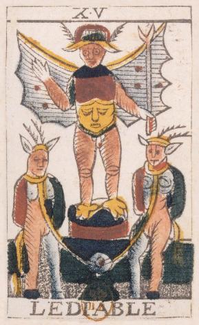 Tarot de Jean Noblet, XV Le Diable