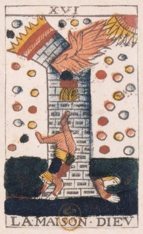 Tarot de Jean Noblet, XVI La maison Diev