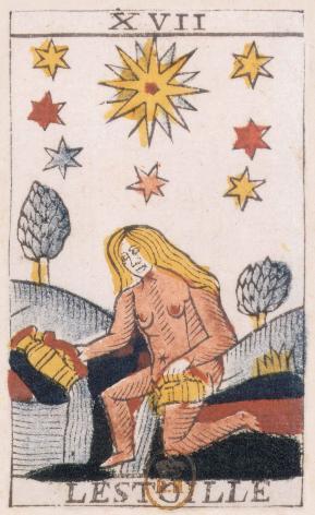 Tarot de Jean Noblet, XVII L'estoille