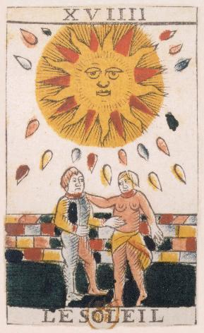 Tarot de Jean Noblet, XVIIII Le Soleil