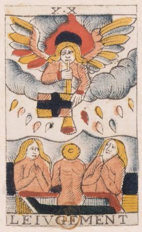 Tarot de Jean Noblet, XX Le Ivgement