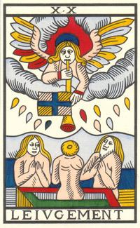 Tarot de Jean Noblet, XX Le Ivgement, JC Flornoy restauration