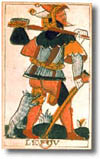 tarot Noblet, le Fou