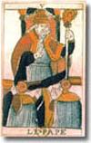 tarot Noblet, le Pape